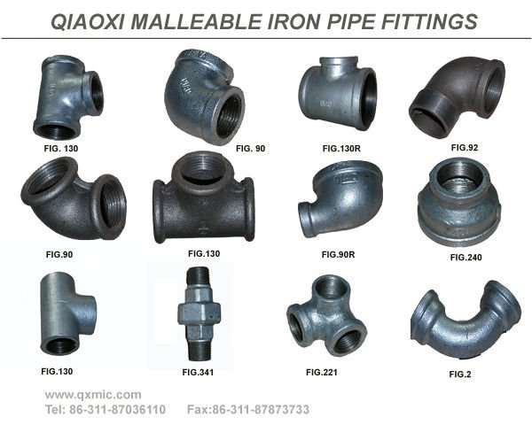 "1/2""DIN galvanized malleable iron pipe fitting reducing bushing"