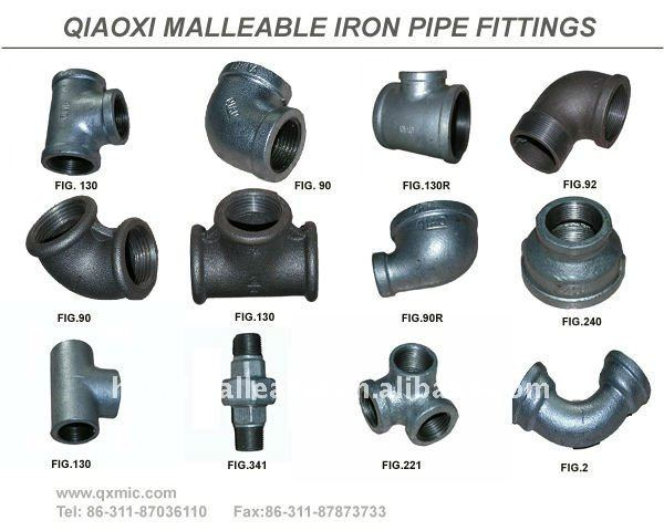 "3/4""black NPT steel Flange pipe fitting"