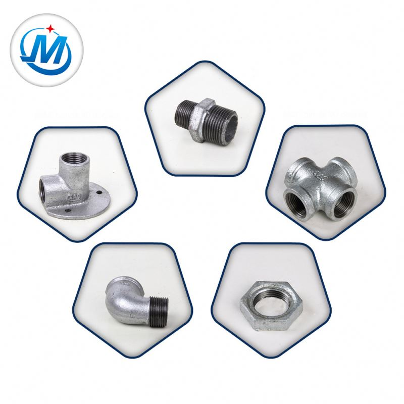 Passed ISO 9001 Test For Gas Connect BS Galvanized Malleable Iron Water Supply Pipe Fittings