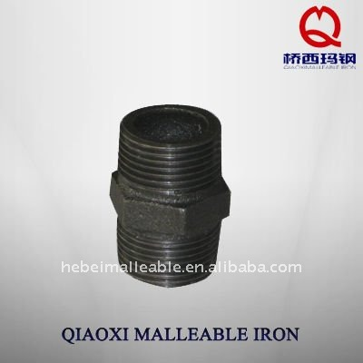 black npt gi hex pipe fitting cast tube connection male nipple