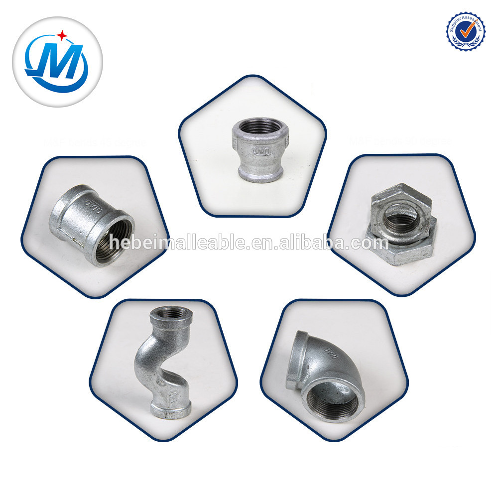 Low MOQ for Brass Water Pipe Fittings For Pex Al Pex Pipe - galvanized malleable iron pipe fitting banded crossover – Jinmai Casting