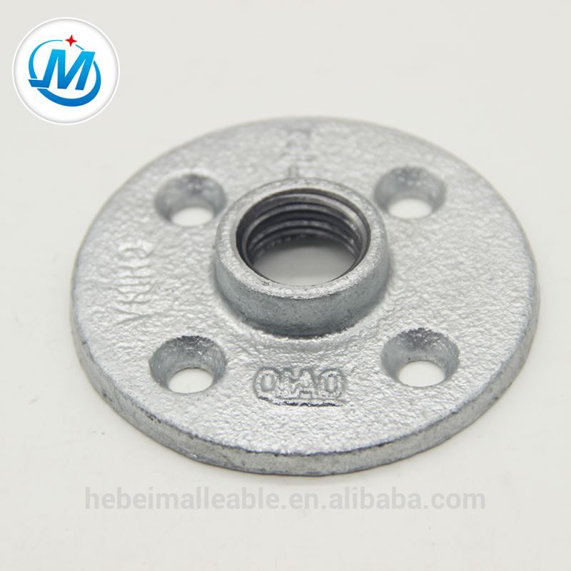 galvanized malleable iron flange pipe fittings