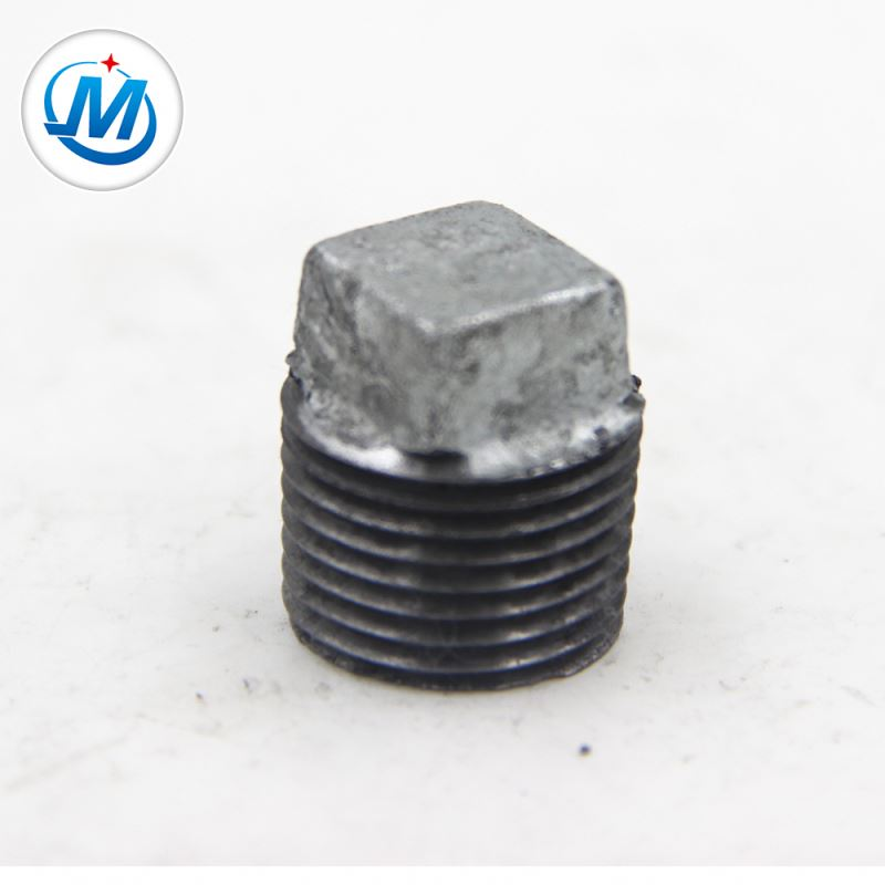 Big discounting Steel Pipe Elbow 12 Inch - Strong Production Capacity Connect Air Use Malleable Iron Square Plug Pipe Fitting – Jinmai Casting