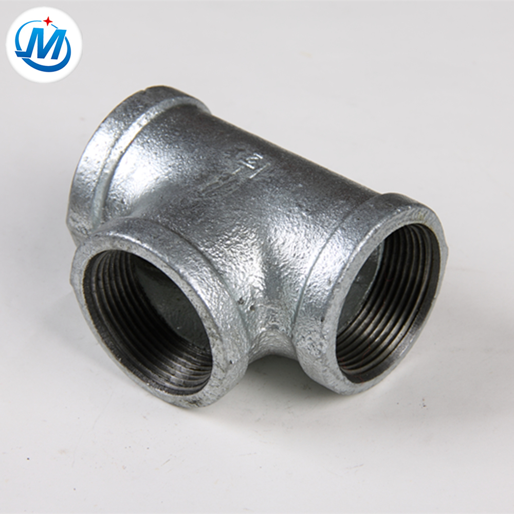China Gold Supplier for Flanged Flexible Pipe Fittings - galvanized malleable cast iron pipe fitting test tee banded equal – Jinmai Casting