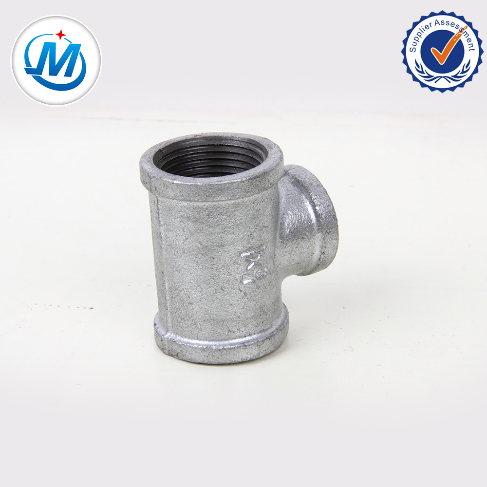 2017 Latest Design Passed Sgs Test Customized Ppr Pipe Fitting - NPT Thread Galvanized Cast Malleable Iron Pipe Fitting Tee – Jinmai Casting
