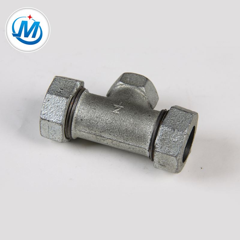 Factory Outlets Galvanized Cast Malleable Iron Pipe Fitting - Sell to Africa Water Supply Iron Fitting Quick Connect Tube Connector Compression Tee – Jinmai Casting