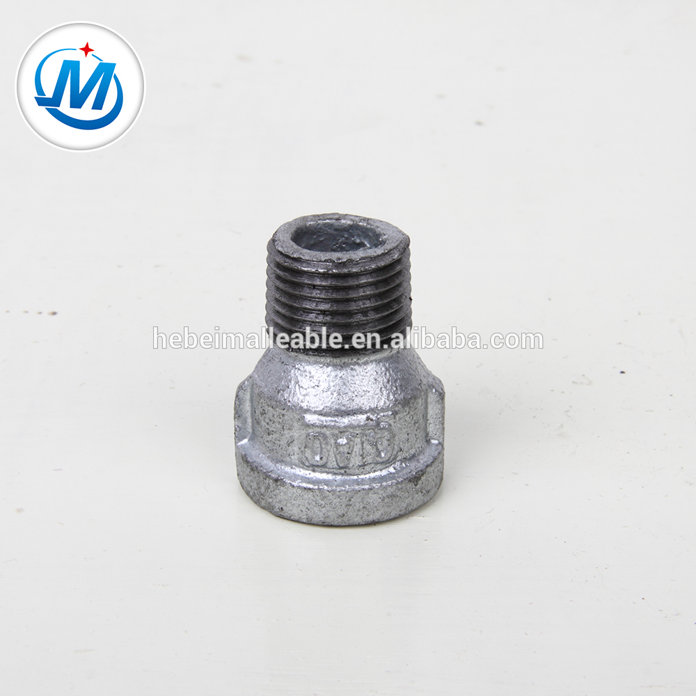 150# bake galvanized malleable iron pipe fitting male and female socket
