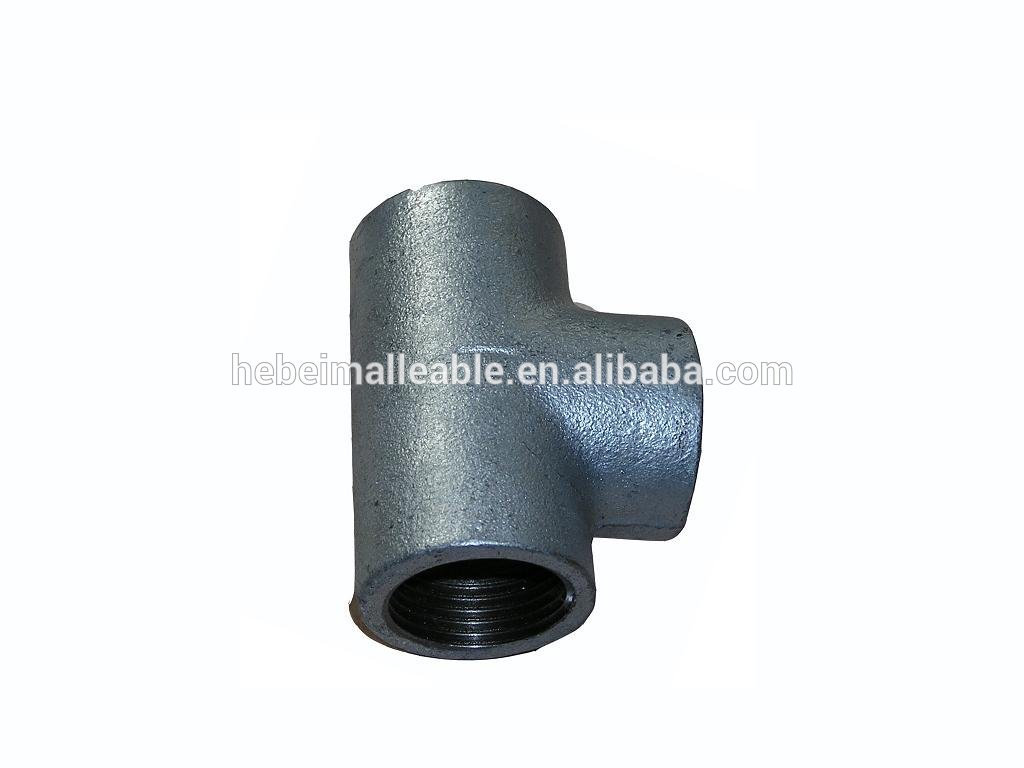 Factory supplied Mi 45 Street Elbow - factory new hot dipped gi malleable iron pipe fitting lateral tee – Jinmai Casting detail pictures