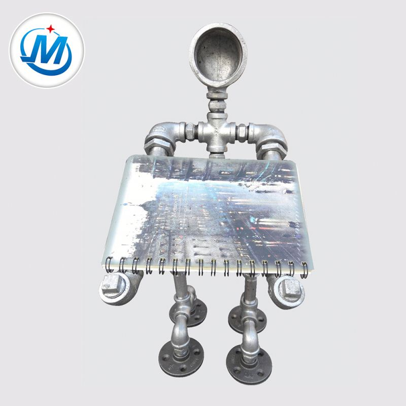 din standard galvanized cast iron pipe fitting side outlet tee