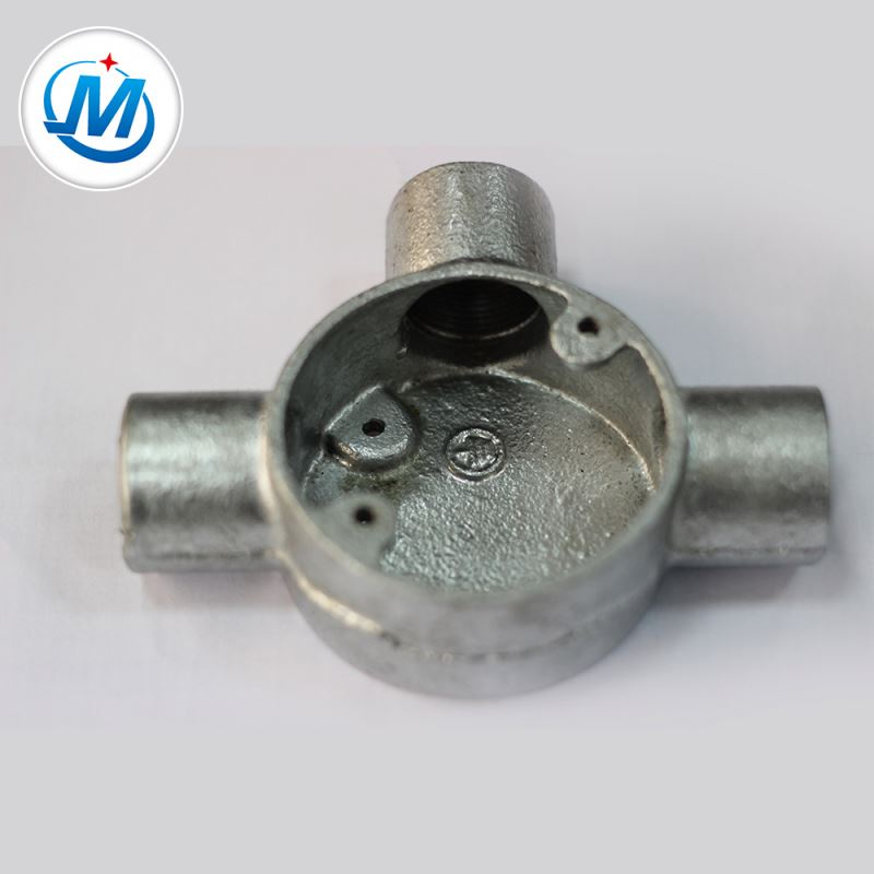 ISO 9001 Certification 100% Pressure Test China Three Way Malleable Iron Junction Box