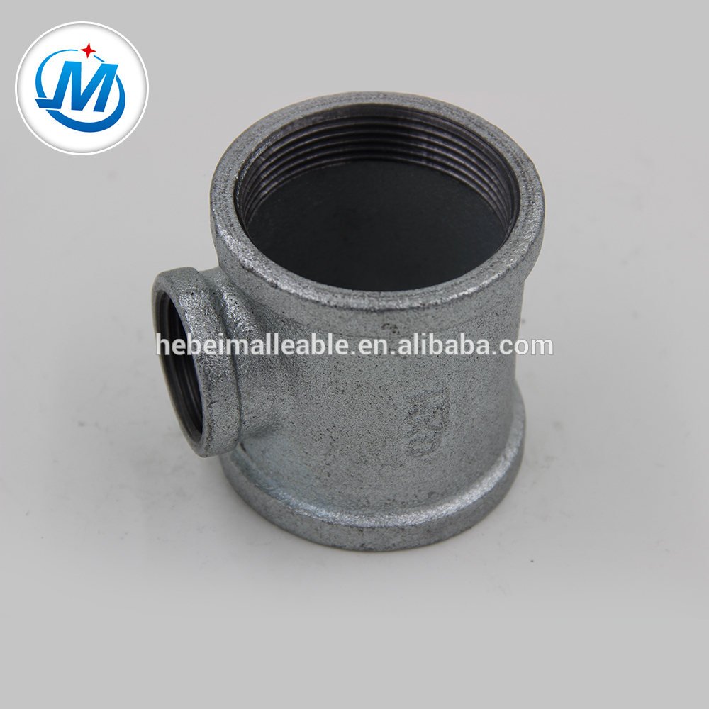 Wholesale Flange Coupling Gas Pipe Fittings - NPT standard cast iron gas pipe fitting reducing tee – Jinmai Casting