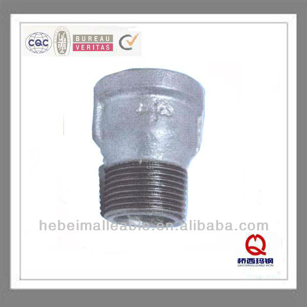 "1""gi malleable iron pipe fitting male and female plain equal coupling"