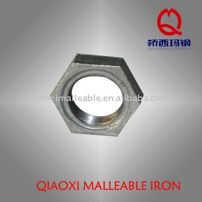 Wholesale Price Cast Iron Pipe Connector - Galvanized iron Lock nut pipe fitting – Jinmai Casting
