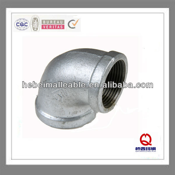 gi elbow banded malleable cast iron pipe fittings QIAO-BS ISO7/1