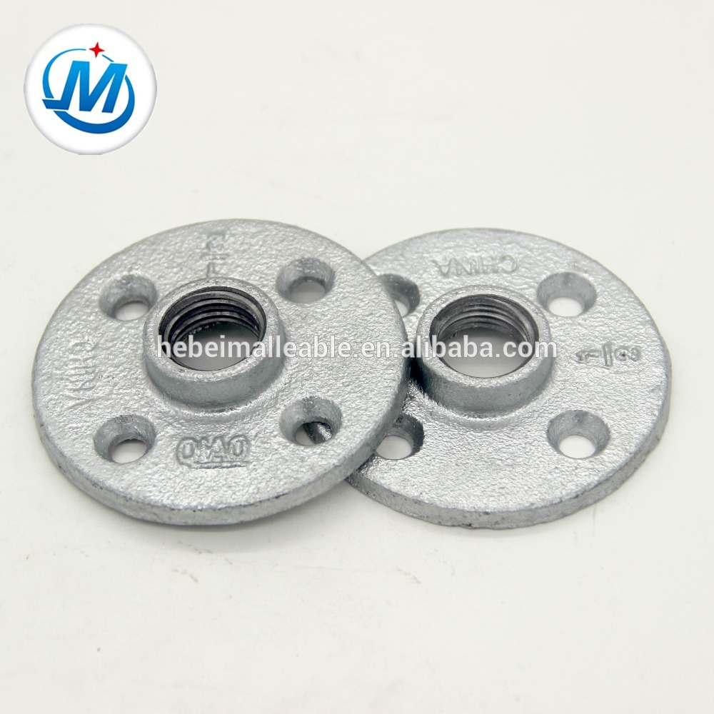 NPT thread floor flanges, malleable iron steel flange, 1/2""
