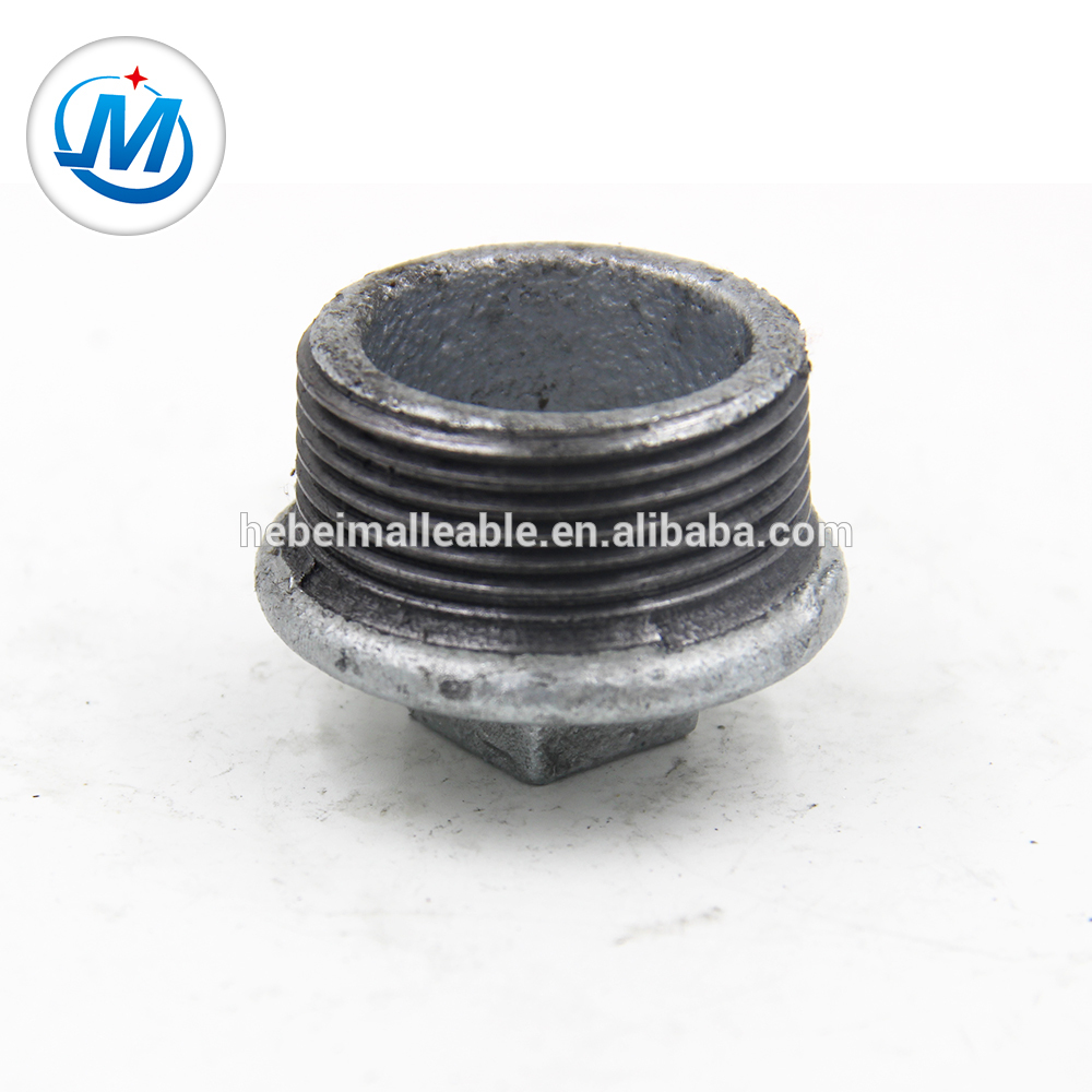NO. 291 Malleable Iron Pipe Fitting Beaded hot dipped galvanized Type Plug