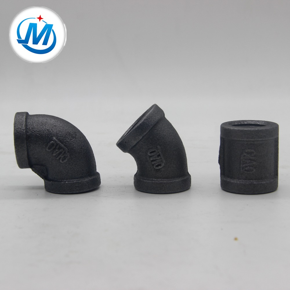 Good quality Air Conditioner Copper Pipe Fittings - cast iron pipe fitting black elbow socket banded – Jinmai Casting