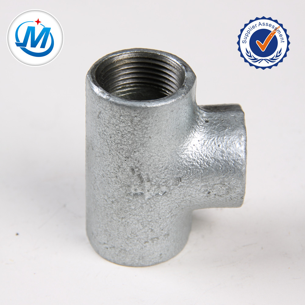 Rapid Delivery for Stainless Steel Nipples - 1-1/4 Inch BS Standard Black Malleable Cast Iron Pipe Fittings Tee – Jinmai Casting detail pictures
