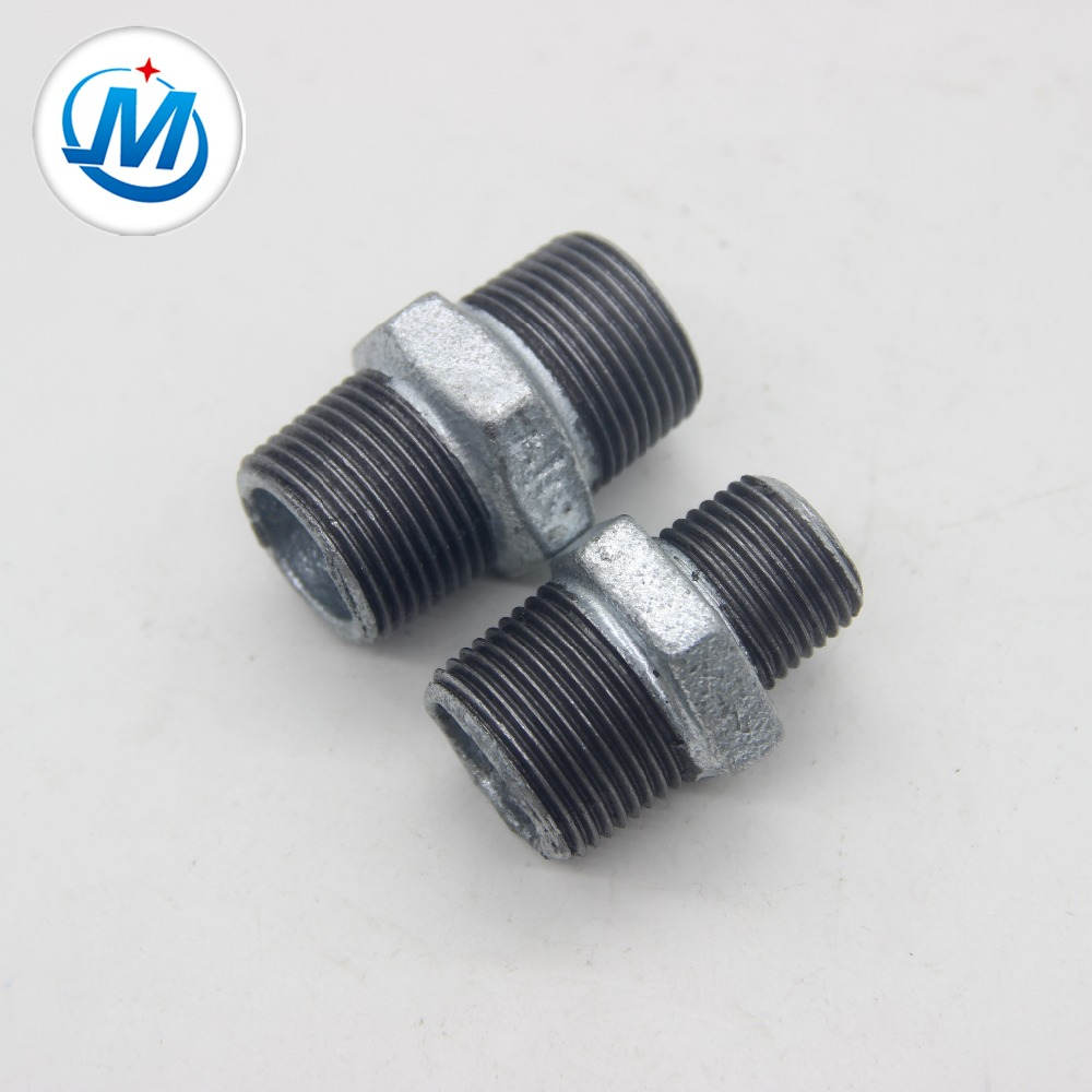 hexagon nipple and reducing nipple cast iron pipe fitting