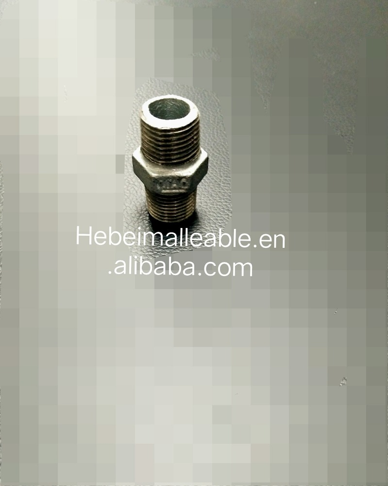 High Quality for Chinese Good Supplier Female Coupling - malleable iron pipe fitting Hexagon nipple – Jinmai Casting