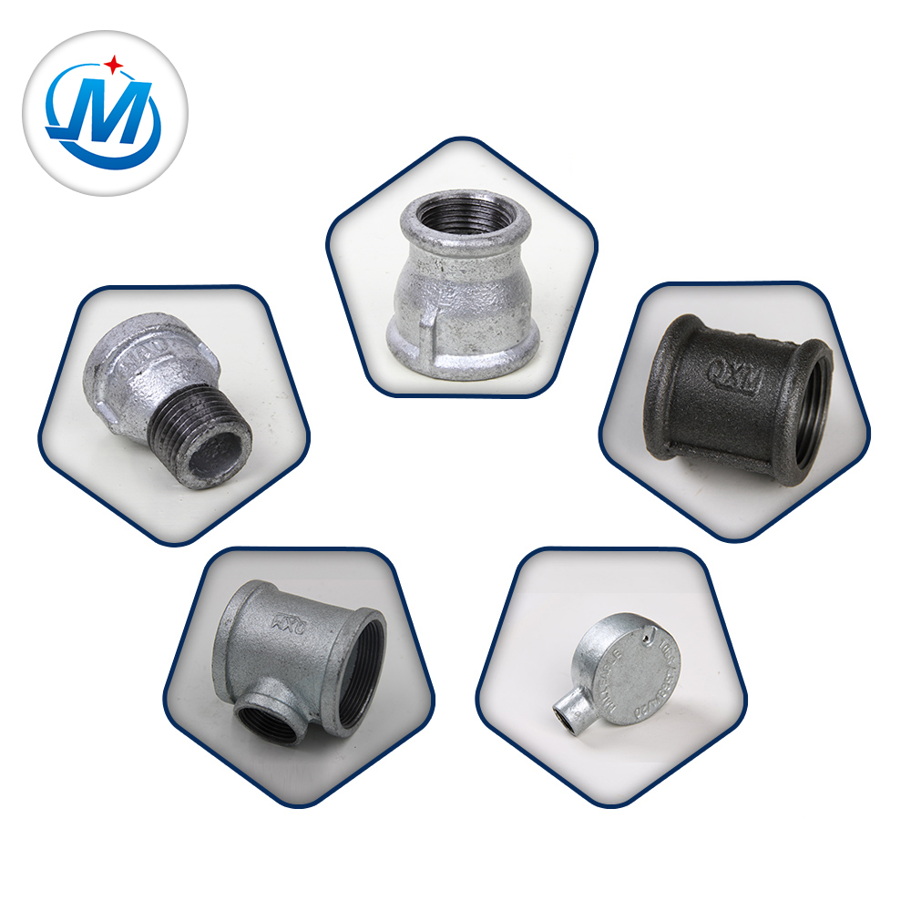 Building Plumbing Hardware Hot Dipped Galvanized Malleable Cast Iron Pipe Fitting