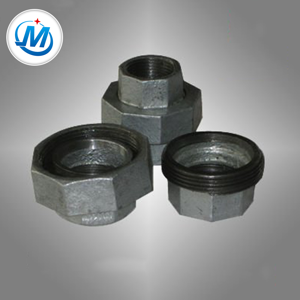 Factory wholesale Ppr Male Threaded Tee - galvanized pipe union with malleable iron pipe fittings – Jinmai Casting detail pictures