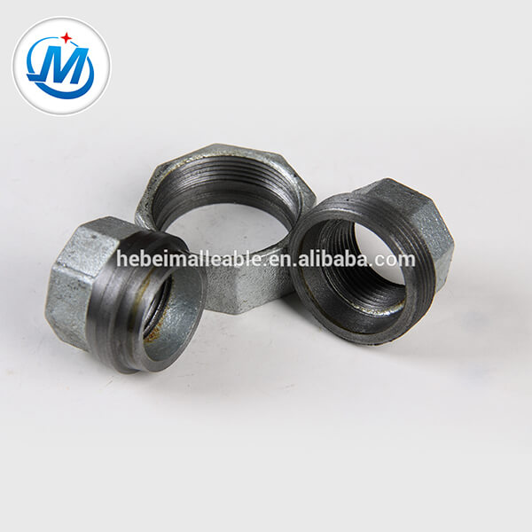 NPT Standard galvanized Malleable iron pipe fitting conical Joint union Picture Show
