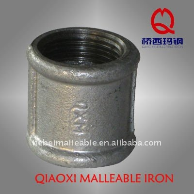 galvanized Malleable Iron Pipe Fittings with BS standard-Sockets,beaded