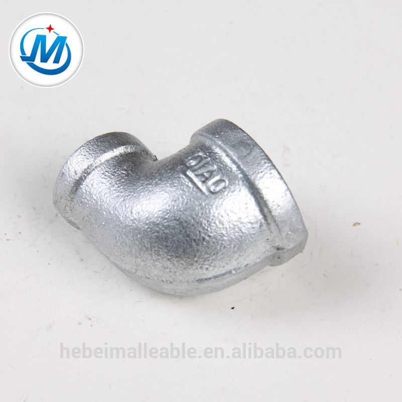 malleable iron pipe fitting 90 degree reducing elbow