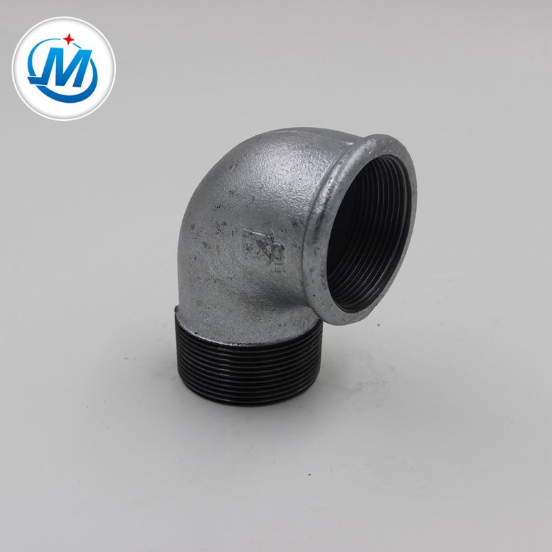 Factory Price Carbon Steel Pipe Fittings - Perfect And Good Quality BS NPT Galvanized Malleable Iron 90 Degree Street Elbow – Jinmai Casting