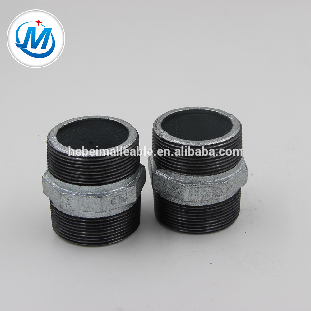 """Leading Manufacturer for Fire Fighting Pipe Fitting - 1/2""""hot dipped galvanized cheap Hexagon Nipple – Jinmai Casting"""