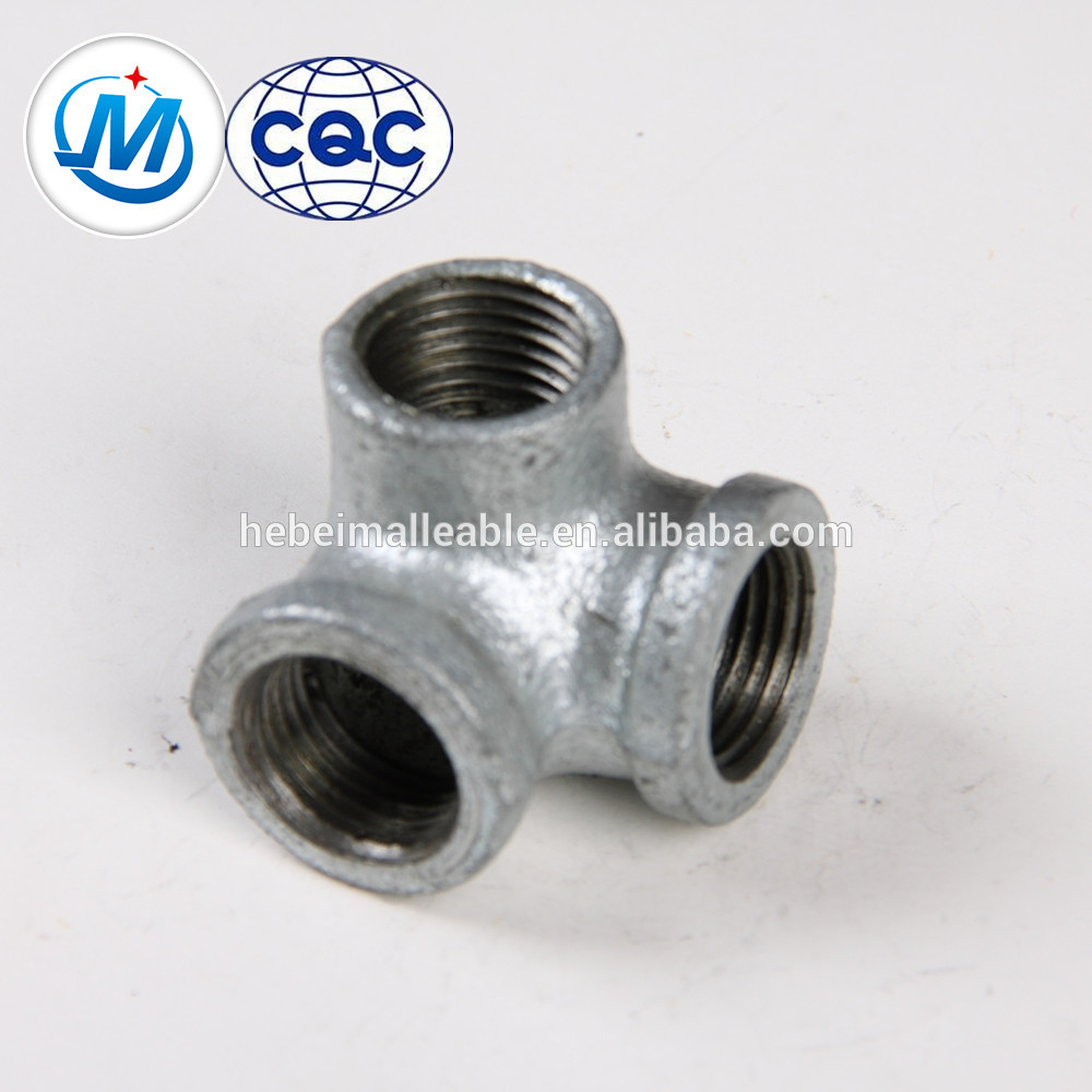 NPT gi malleable iron pipe fitting side outlet elbow banded equal