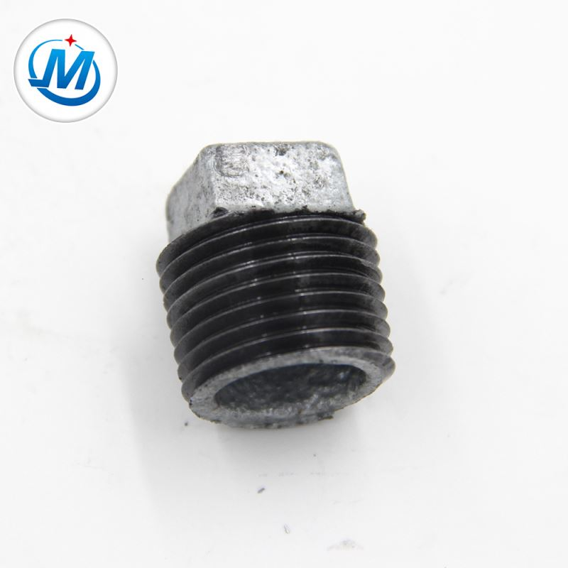Factory made hot-sale Galvanized Malleable Iron Pipe Clamps Fittings - BV Certification Connect Water Use Plain Malleable Iron Stopping Pipe Fitting Plug – Jinmai Casting