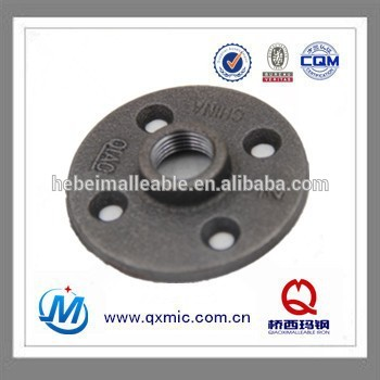 "1/2"" NPT black malleable iron thread flange"