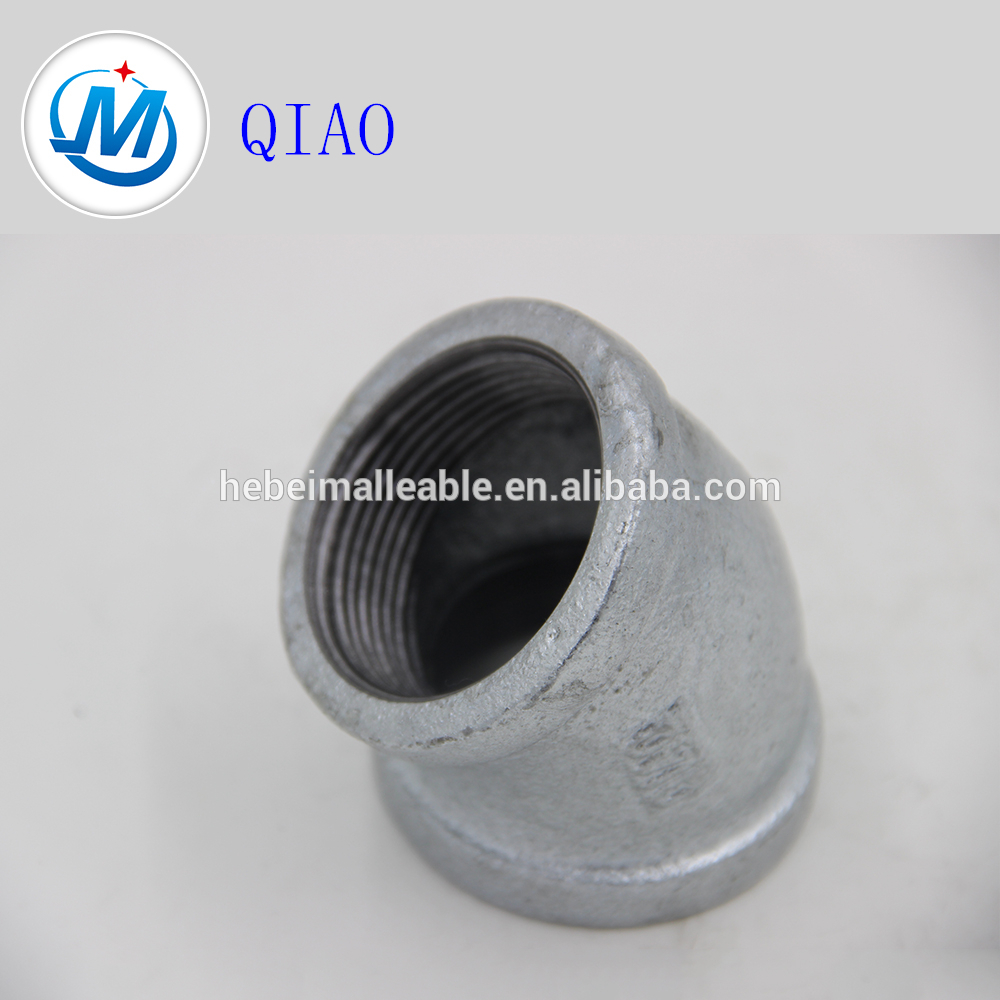 QIAO Brand BS standard pipe fittings 45 degree elbow