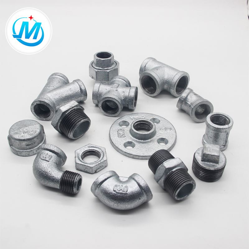 ISO9001 certificated g.i .malleable iron pipe fitting