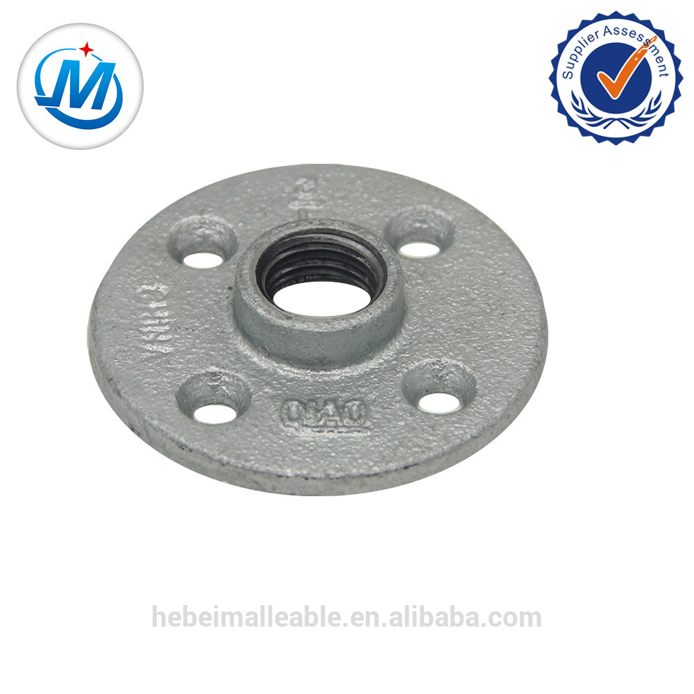 Top Suppliers Long Thread Black Pipe Nipples - BS321 galvanized light pattern without bolt hole round Flange – Jinmai Casting
