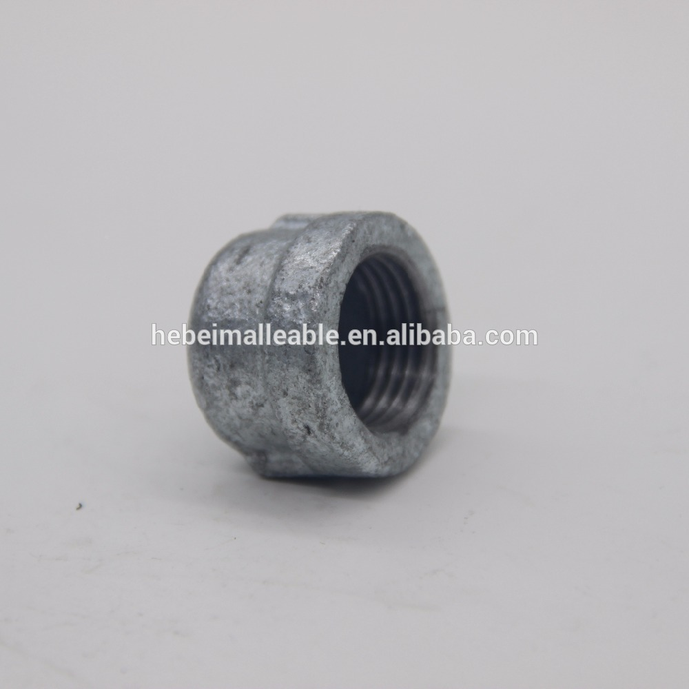 """OEM/ODM Supplier Joinerair Fluid Fuel Gas Liquid Water - 1/2"""" beaded malleable iron pipe fitttng round caps – Jinmai Casting"""