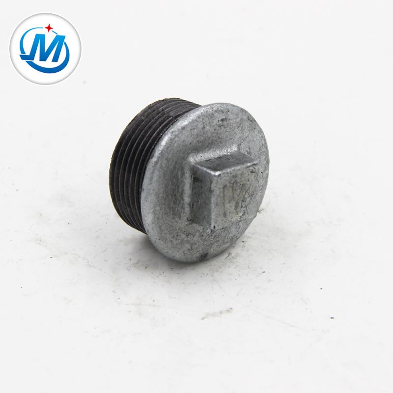 Best quality Forged Gas Pipe Sleeve With Iso 9001 - Ensuring Quality First For Coal Connect As Media NPT Malleable Iron Galvanised Pipe Fittings Square Head Plugs – Jinmai Casting