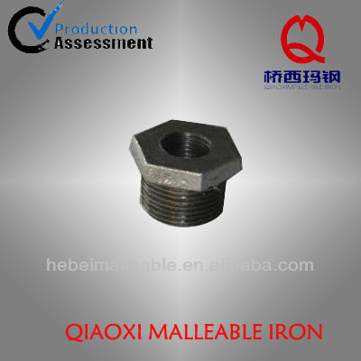 electro galvanized malleable iron pipe fittings hexagon reducing bushing