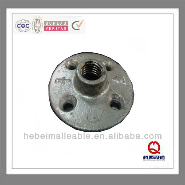 "QIAO npt 3/4""malleable iron threaded flange with four holes"