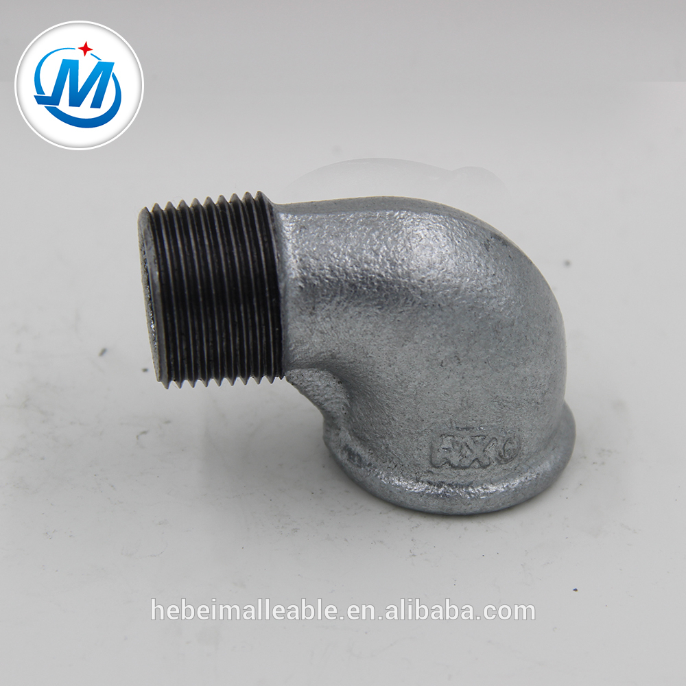 Hot dipped Galvanized iron elbow M&F Tube fittings