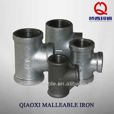 water connector pipe fitting black iron tee pipe and fitting