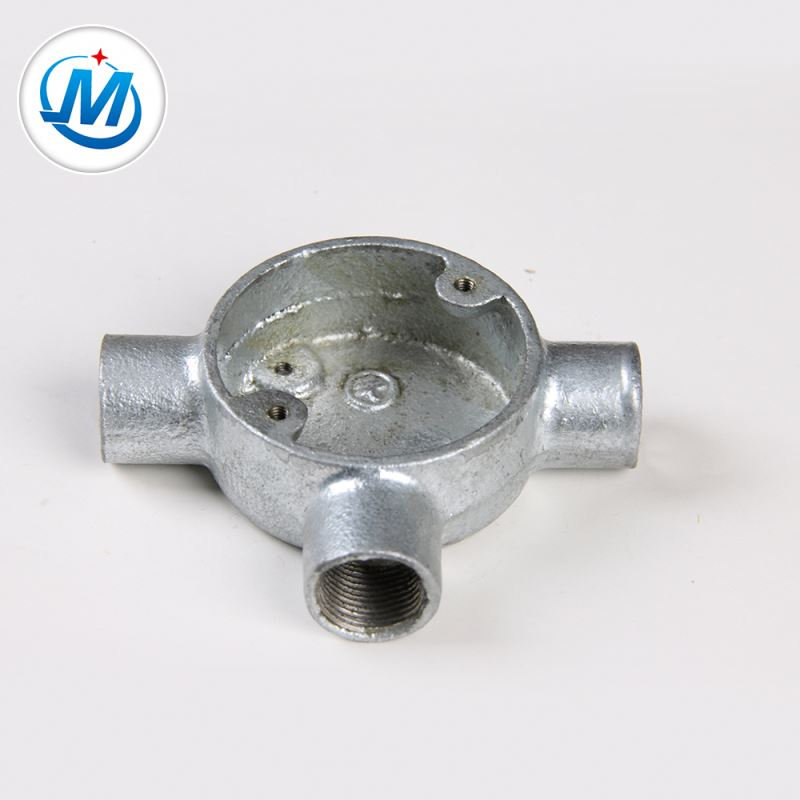 Quality Checking Strictly 100% Pressure Test Malleable Iron Metal Galvanized Junction Box
