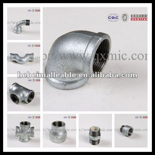 hot dipped galvanized malleable iron pipe fitting