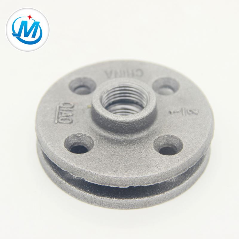 Hot sale Factory Copper Pipe Coupling Joint - galvanized threaded pipe fitting flange – Jinmai Casting detail pictures