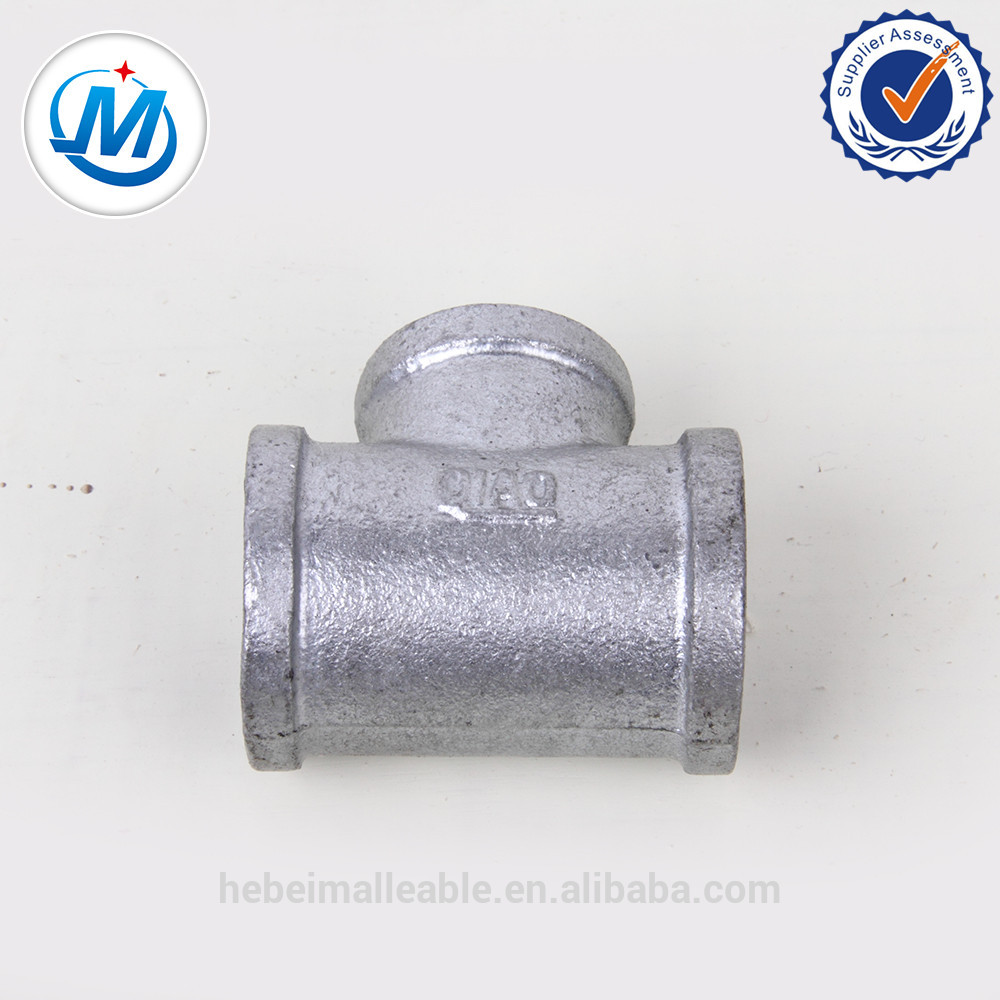 """New Fashion Design for Ss304 Stainless Steel Elbow - 3/4""""ANS thread cross banded equal 90 degree malleable iron fitting – Jinmai Casting"""