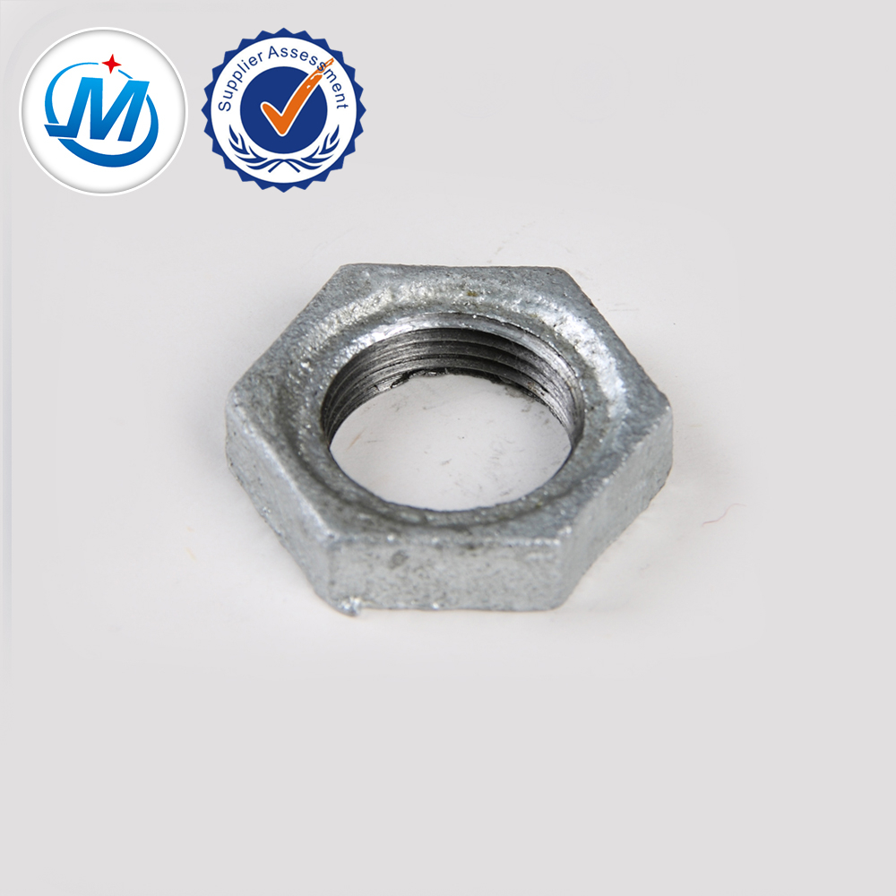 malleable pipe fitting gi locknut with tight sealing