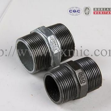 be applicable gas malleable iron pipe fitting Hexagon nipple