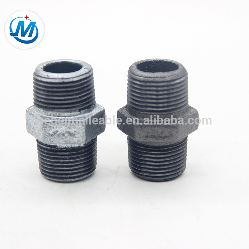 malleable cast iron pipe fittings black hexagon nipple equal